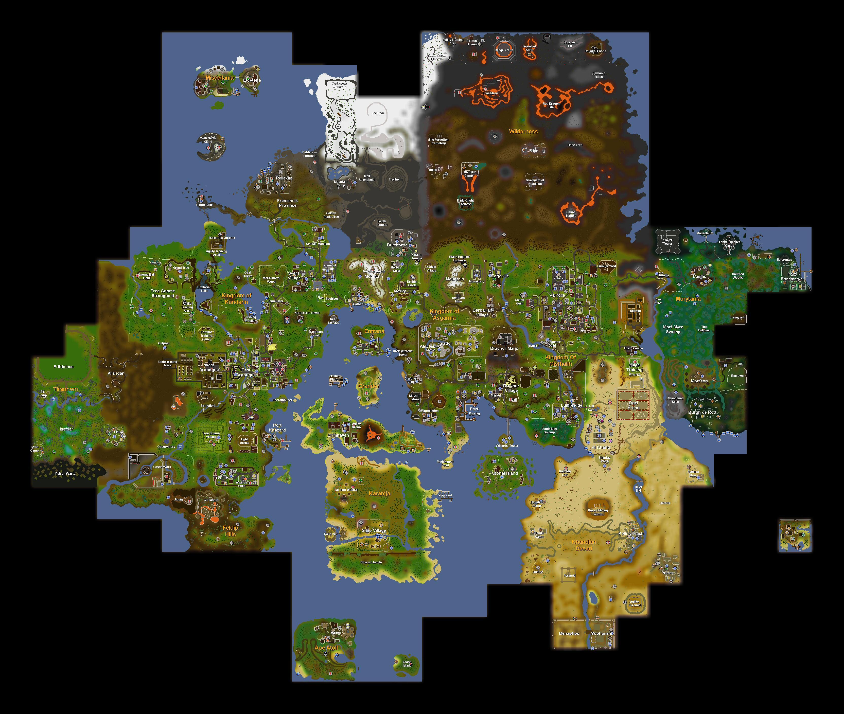 Image Gallery 2007 map runescape